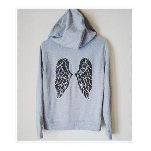 Bling Angel Wing Hoodie  Victoria Secret